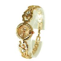 Gold rhinestone bracelet wrist watch,quartz watch J0033A