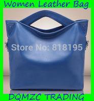 2014 new women genuine leather handbag fashion women shoulder bag messenger large bag cross-body leather bag pure color purse