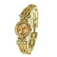 Free shipping New arrival gold rhinestone bracelet wrist watch,quartz watch J0033