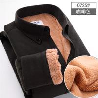 2014 winter new men's business suits plus velvet thick warm long-sleeved shirt men's shirts