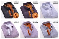 brand new men's shirts plus velvet thick warm long-sleeved shirt  men winter warm shirt hot selling