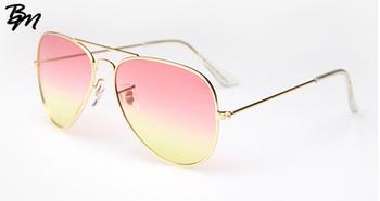 Новые модной женщины солнцезащитные очки мода градиент полуободковые солнцезащитные ...