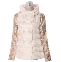 2014 winter new doll models padded down jacket thick cotton A-line fashion cape-style jacket Korean version