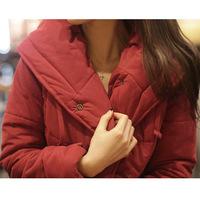2014 autumn and winter new Korean Women padded winter coat ladies short paragraph Slim small jacket coat thicker 6875 jacket