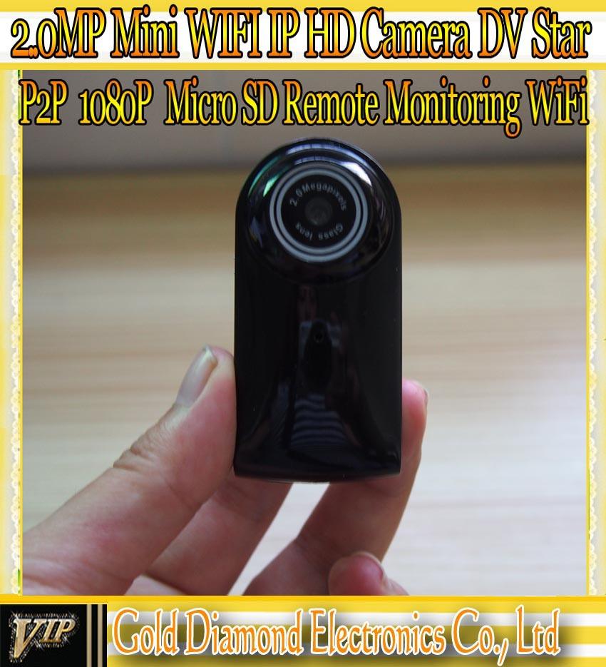 2014 New Mini WiFi IP HD Camera H.264 1.0MP P2P Remote monitoring Micro SD IP Camera Car DVR Retail box Free ShippingQR Code(China (Mainland))