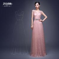 Double-shoulder V-neck slim lace Bride married long design evening dress Vestido de renda cheap uggs lebanon wedding dress 2015