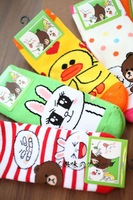 LINE Friends Looped Pile Fabric Woman Socks--Christmas Gift Novelty Toy