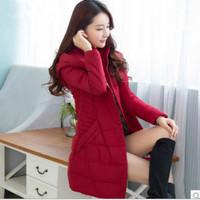 2014 brand new winter coat Women Korean Girls long section of thick warm padded jacket Slim