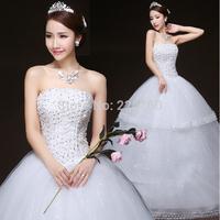 Wedding dress diamond-encrusted that wipe  Sweet princess veils design of bitter fleabane bitter fleabane skirt wedding gown