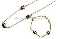 Wholesale Stainless Steel Necklace Bracelet Costume Jewellery Set 5 sets