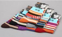 FREE SHIPPING fashion brands business casual men socks color stripe cotton socks Breathing socks