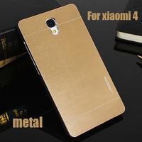 YOSA02 xiaomi mi4,motomo luxury cases / xiaomi mi4 cover / xiaomi mi 4 case Metal wire drawing cell phone back cover