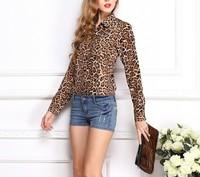 2014 Hot Sale Fashion Chiffon Blouse Casual Women Long Sleeve Shirt Tops multi ColorsSize S-XL 1 70-2570