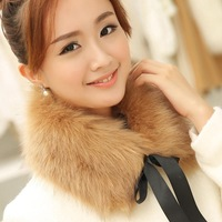 False-collar Korea winter women faux fur shawl collar faux rabbit fur collar lace warm fur collar