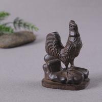 yangzi- 161   Wholesale Vietnamese agarwood carvings Decoration (Golden Rooster crowing) Figurines