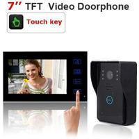 Home Intercom Security System 7 inch TFT LCD Wireless Video Door Phone 0.3Mega pixel camera waterproof shield