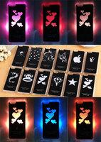 "10PCS Colorful Change logo Battery Sense Flash LED light Cover Case For Apple iPhone 6 4.7 "" LED Case Cover Mobile Phone Bags"