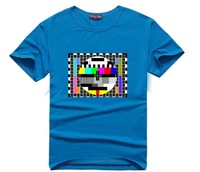 Cool The Big Bang Theory t-shirts Sheldon t shirt TV no signal funny design Casual men tee shirts  Tops O-Neck t-shirt  T23