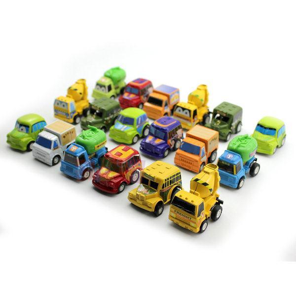 NEw Arrival 2014 Multi Colors Plastic Mini Pull Back Model Car Educational Toys for Children Kids 6Pcs/Set Christmas Gifts(China (Mainland))