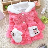 winter kid warm jackets kids girls children girls baby floral classical style outwear coats 2014 KT545R