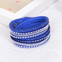 2014 New Fashion Brand Punk Style Multilayer Buckle Leather Bracelets Bangles Rivet Bracelet For Women Men