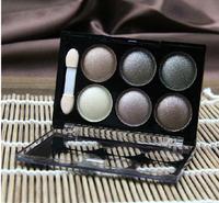 2014 NEW!SEXY SmokyEyeshadow 6 Colors Satin Eye shadow Glitter Eyeshadows palette,Professional eyes makeup Smoky Eye Smoking Eye