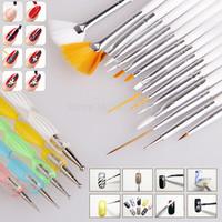 Nail Art Design Set Dotting Painting Drawing Polish Brush  Pen Tools 20pcs/set