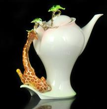 Lovely Ceramic Decoration Giraffe Coffee Set Tea Pot Creamer Sugar Cup Saucer Platter Gift