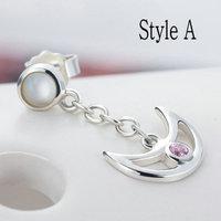2014 latest anime Drop Earrings 100% 925 sterling silver jewelry Earrings SailorMoon earrings for women silver earrings