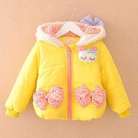 winter kid warm jackets kids girls children girls baby cartoon style outwear coats 2014 KT552R