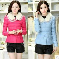 2014 new  padded jacket women's coat jacket Slim Korean version of the influx of short cotton jacket a generati  353 women coat