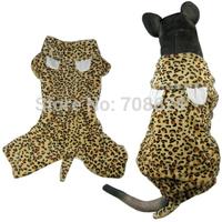 BIG SIZE New Fashion Leopard Large Dogs Fleece Coat For Autumn Winter Big Pet Dog Jumpsuit Pajamas Clothes 2XL 3XL 4XL 5XL