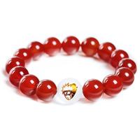 2014 New Anime Jewelry Naruto bracelet 100% agate+crystal bracelets for women Cosplsy model Christmas gift