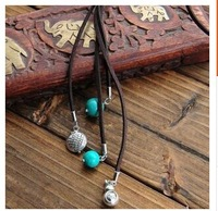 For M  10pcs/lot Unique national trend fashion vintage accessories leather long necklace