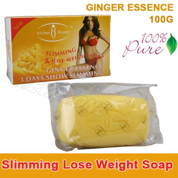 100% Pure GINGER Essence Lose Weight Loss Slimming body Soap Fat Burning Effective slim cream best partner 100g(China (Mainland))