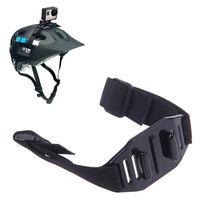 Black Vented Adjustable Head Helmet Strap Belt Go Pro Mount Holder Adapter For Sport Gopro HD Hero 1 2 3 Camera Accessory