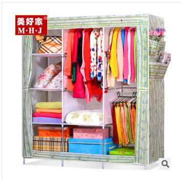 sale,free shiping !Cloth wardrobe, bedroom furniture, fabrics, steel wardrobe cabinets(China (Mainland))