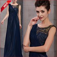 KingFox 30106 Sleeveless A-line Beaded Floor Length Evening Dress
