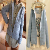 2014 new women's winter coat Korean version of a short section of small padded hooded thickening Ms. Cheap wholesale
