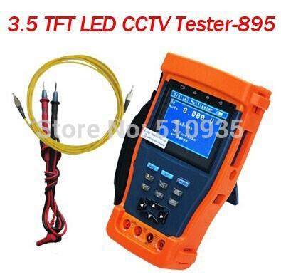 "CJ-TV895 3.5"" Multi-function Portable LCD Monitor CCTV Camera Video PTZ Tester Digital MutiMeter Optical Power Meter(China (Mainland))"