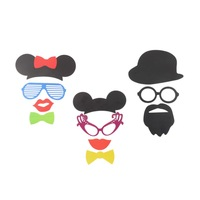 1set photo booth props,31pcs props on sticks,hat,glasses,knot,lips,mustaches for your Wedding, Birthday