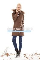 free shipping 2014 hot sale women down coat windproof warm down parka women down jacket