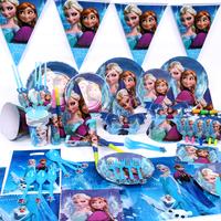 90PCS/set for 6 People Frozen theme Birthday Party supplies,creative children/Kids bithday party decoration,birthday decor