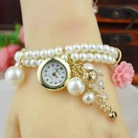 2014 Women Watches Weave Wrap Rivet Leather Colorful Vintage Bracelet Wristwatches Quartz Jewelry Chain Watch Clock