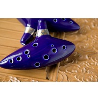 1 PCS Blue 12 Holes Ocarina Kiln-fired Ceramic Alto C Legend of Zelda Zelda Ocarina Flute of Time
