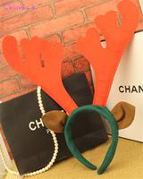 Cosplay Headwear Christmas Halloween Party Headband Red Deer Reindeer Antlers Santa Decoration FS136