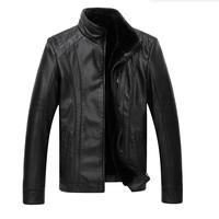 XL-5XL fur leather men's warm winter coat Korean Slim 2014 new personalized fashion leather men plus thick velvet