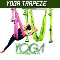 6 colors Aerial Yoga Hammock pilates band workout Yoga Inversion Swing Trapeze Anti-Gravity Belt Tool Fitness body soul workout