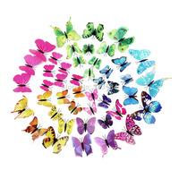 12pcs/set 3D wall stickers butterfly fridge magnet wedding photography props home decoration Art Design Decal Wall