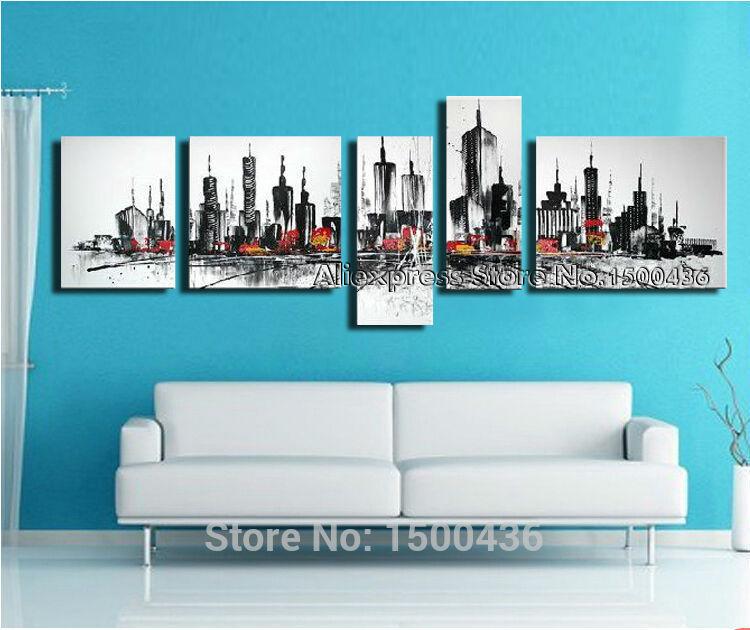 Living Room Wall Decor Sets : Wall Art 4 Panel Caligrafi Start Protect Sets For Living